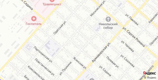 Переулок Седина в Ейске с номерами домов на карте. Спутник и схема онлайн