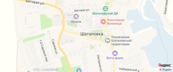 Коммунальная улица на карте села Шаталовки с номерами домов