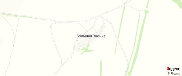 Карта деревни Большей Звойки в Тульской области с улицами и номерами домов