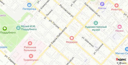 Улица Гоголя в Ейске с номерами домов на карте. Спутник и схема онлайн