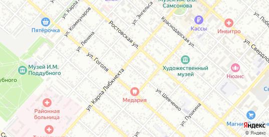 Улица Шевченко в Ейске с номерами домов на карте. Спутник и схема онлайн