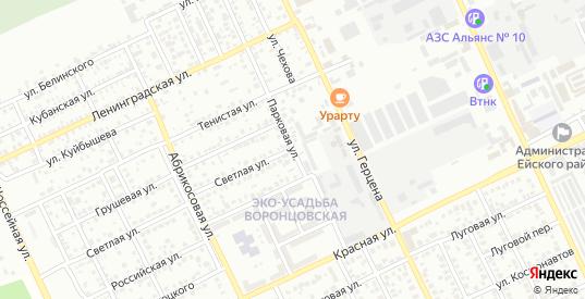 Парковая улица в Ейске с номерами домов на карте. Спутник и схема онлайн