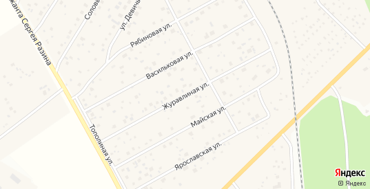 Журавлиная улица в Краснозаводске с номерами домов на карте. Спутник и схема онлайн