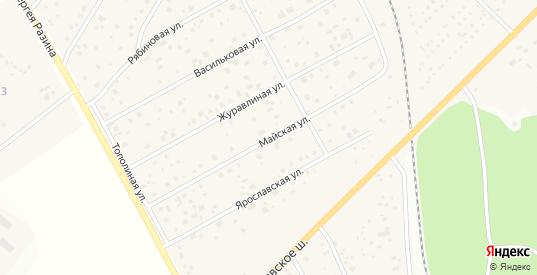 Майская улица в Краснозаводске с номерами домов на карте. Спутник и схема онлайн