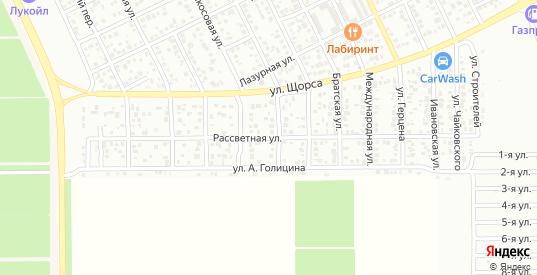 Рассветная улица в Ейске с номерами домов на карте. Спутник и схема онлайн