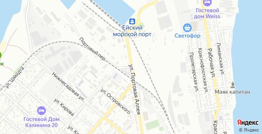 Улица Портовая аллея в Ейске с номерами домов на карте. Спутник и схема онлайн