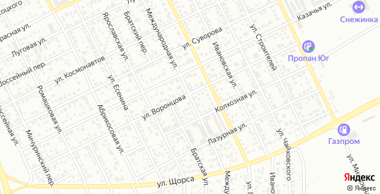 Международная улица в Ейске с номерами домов на карте. Спутник и схема онлайн