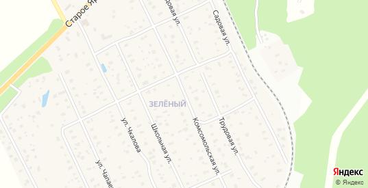 Комсомольская улица в Краснозаводске с номерами домов на карте. Спутник и схема онлайн