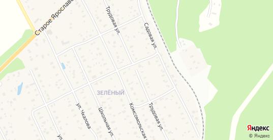 Трудовая улица в Краснозаводске с номерами домов на карте. Спутник и схема онлайн
