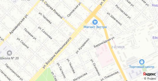 Переулок Романа в Ейске с номерами домов на карте. Спутник и схема онлайн