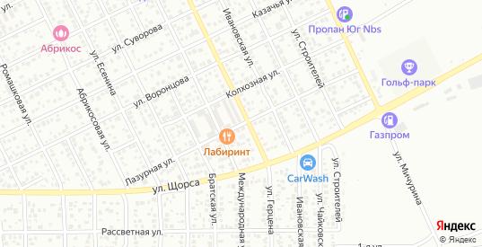 Лазурная улица в Ейске с номерами домов на карте. Спутник и схема онлайн