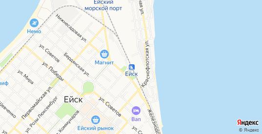 СТ Весна на карте Ейска с номерами домов