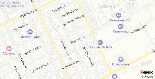 Казачья улица в Ейске с номерами домов на карте. Спутник и схема онлайн