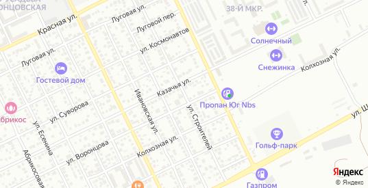Улица Строителей в Ейске с номерами домов на карте. Спутник и схема онлайн