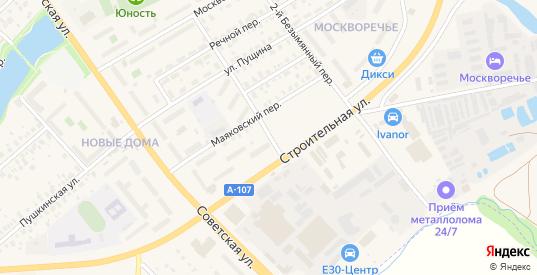 Безымянный переулок в Бронницах с номерами домов на карте. Спутник и схема онлайн