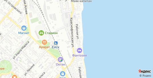 Береговой 7-й переулок в Ейске с номерами домов на карте. Спутник и схема онлайн