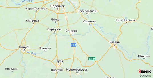 Карта Каширского района Московской области с городами и населенными пунктами