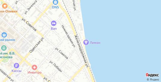 Железнодорожная улица в Ейске с номерами домов на карте. Спутник и схема онлайн