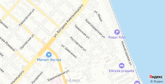 Улица Балабанова в Ейске с номерами домов на карте. Спутник и схема онлайн