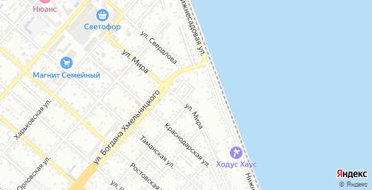 Переулок 11-ый Мира в Ейске с номерами домов на карте. Спутник и схема онлайн