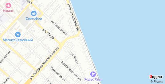Нижнесадовая улица в Ейске с номерами домов на карте. Спутник и схема онлайн