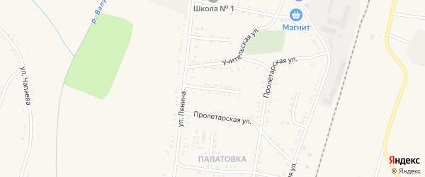 Молодежная улица на карте села Ливенки Белгородской области с номерами домов