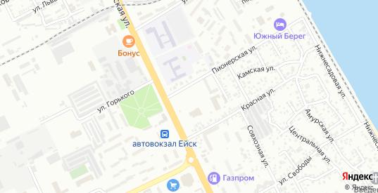 Молодежная площадь в Ейске с номерами домов на карте. Спутник и схема онлайн