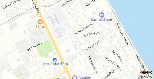 Керченский переулок в Ейске с номерами домов на карте. Спутник и схема онлайн