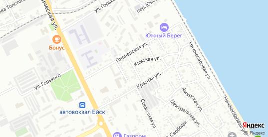 Невский переулок в Ейске с номерами домов на карте. Спутник и схема онлайн