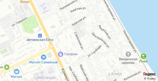 Совхозная улица в Ейске с номерами домов на карте. Спутник и схема онлайн