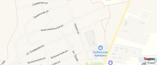 Новая улица на карте Староджерелиевской станицы Краснодарского края с номерами домов