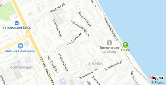 Волжский переулок в Ейске с номерами домов на карте. Спутник и схема онлайн