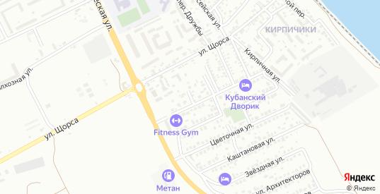 Переулок Короленко в Ейске с номерами домов на карте. Спутник и схема онлайн