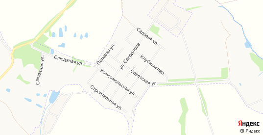 Карта микрорайона Шахтерский в Донском с улицами, домами и почтовыми отделениями со спутника онлайн