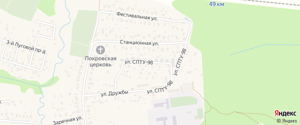 Улица СПТУ-98 на карте села Игумново с номерами домов