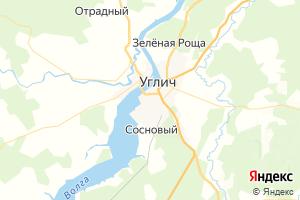 Карта г. Углич