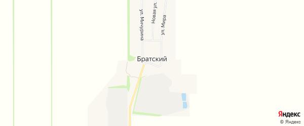 Карта Братского поселка в Краснодарском крае с улицами и номерами домов