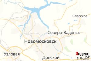 Карта г. Новомосковск Тульская область