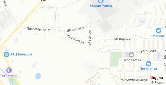 Школьная улица в микрорайоне Новоугольный в Донском с номерами домов на карте. Спутник и схема онлайн