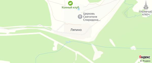 Карта деревни Ляпино в Московской области с улицами и номерами домов