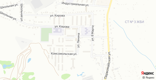Улица Ленина в микрорайоне Новоугольный в Донском с номерами домов на карте. Спутник и схема онлайн