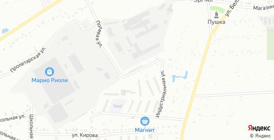 Индустриальная улица в микрорайоне Новоугольный в Донском с номерами домов на карте. Спутник и схема онлайн