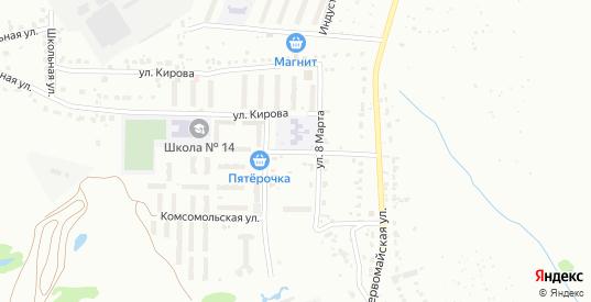 Садовая улица в микрорайоне Новоугольный в Донском с номерами домов на карте. Спутник и схема онлайн