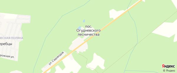 Карта поселка Огудневского лесничества в Московской области с улицами и номерами домов