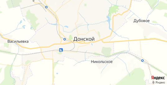 Карта Донского с улицами и домами подробная. Показать со спутника номера домов онлайн