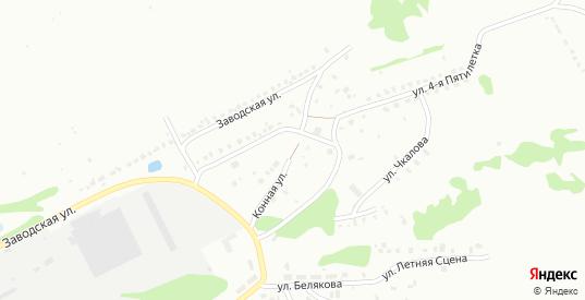 Конная улица в микрорайоне Новоугольный в Донском с номерами домов на карте. Спутник и схема онлайн