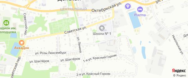 Трудовой переулок на карте Комсомольского микрорайона с номерами домов