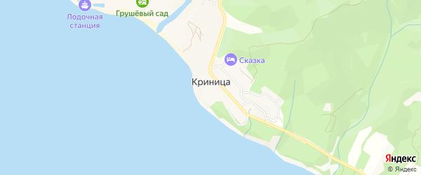 Карта села Криницы города Геленджика в Краснодарском крае с улицами и номерами домов