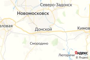 Карта г. Донской Тульская область
