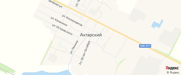 Территория Восток на карте Ахтарского поселка Краснодарского края с номерами домов